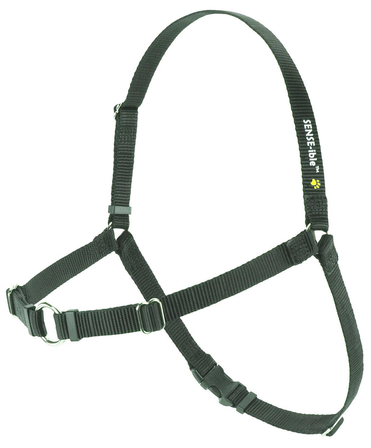 (Large Narrow, Black) Sense-ible No-Pull Dog Harness