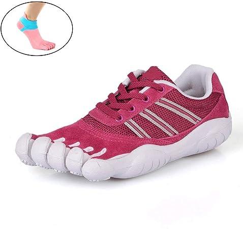 YANMUZI Zapatos Descalzos Unisex Punta Ancha Minimalista Trail Running Zapatos Descalzos Deportes Al Aire Libre Zapatos De Cinco Dedos Zapatos Descalzos con Calcetines,B-38: Amazon.es: Hogar