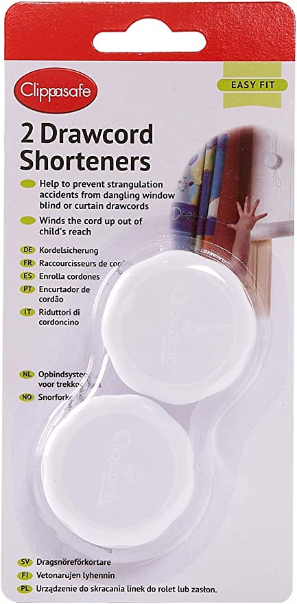 Safety 1st Window Blind Cord Wind Up Shortener Shortens /& Stores 2 Pack