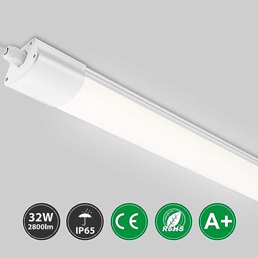 LED Wannenleuchte Feuchtraum Leuchte Decken Lampe IP65 16W 32W Neutralweiß Kelle