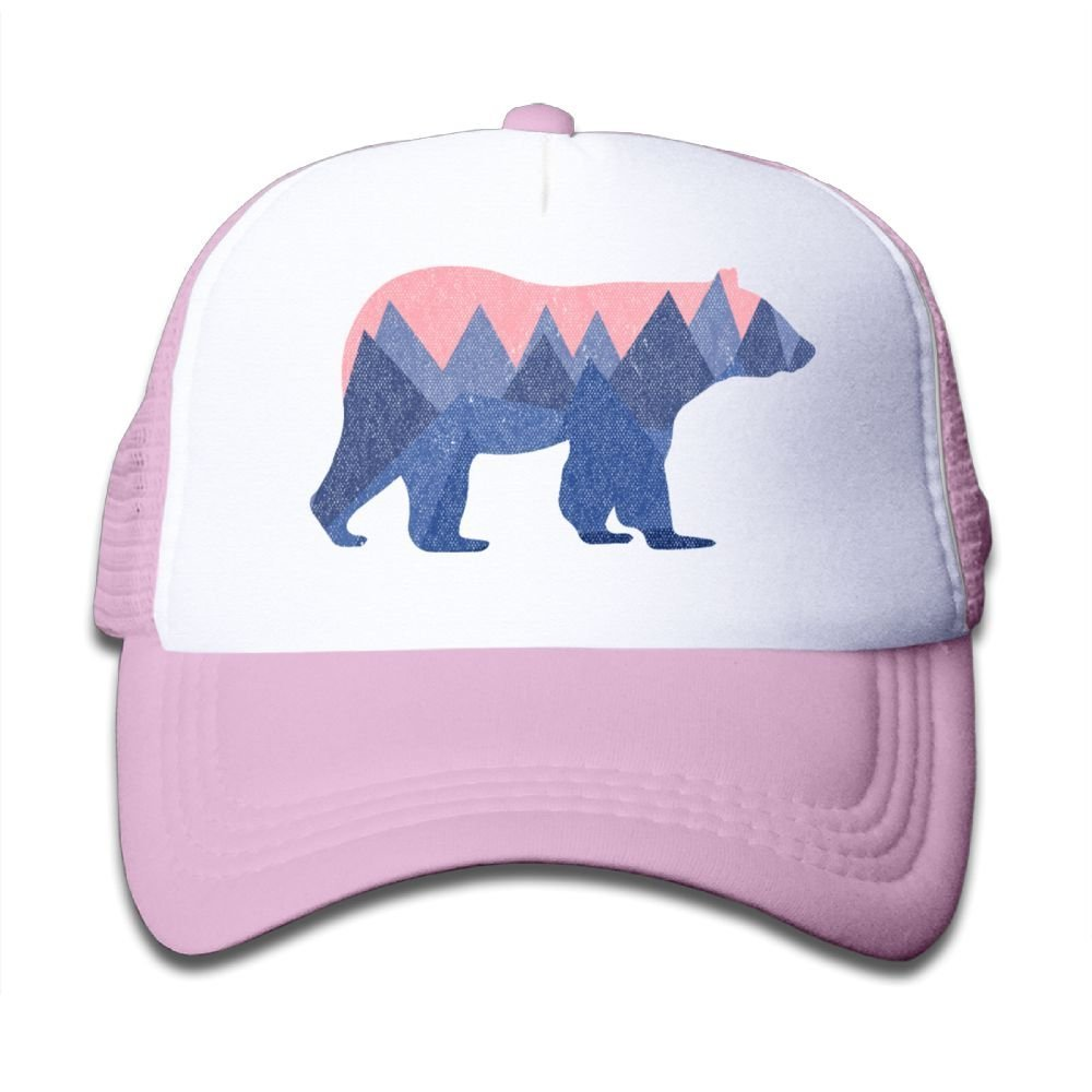 Waldeal Boys and Girls Bear Mountain Youth Toddler Mesh Hats Baseball Trucker Cap