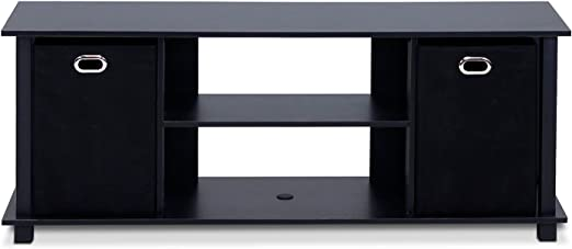 Amazon.com: Furinno Econ Entertainment Center, Black/Black