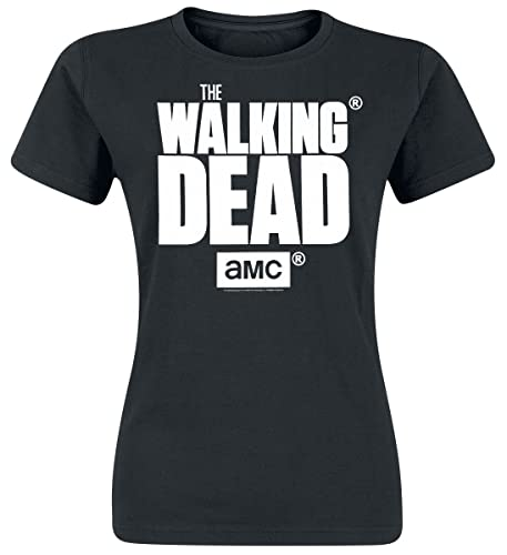 The Walking Dead Logo Maglia Donna Nero