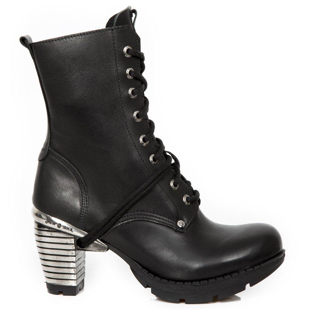 New Rock Womens M.TR001X-S3 Leather Boots40 EU|Black