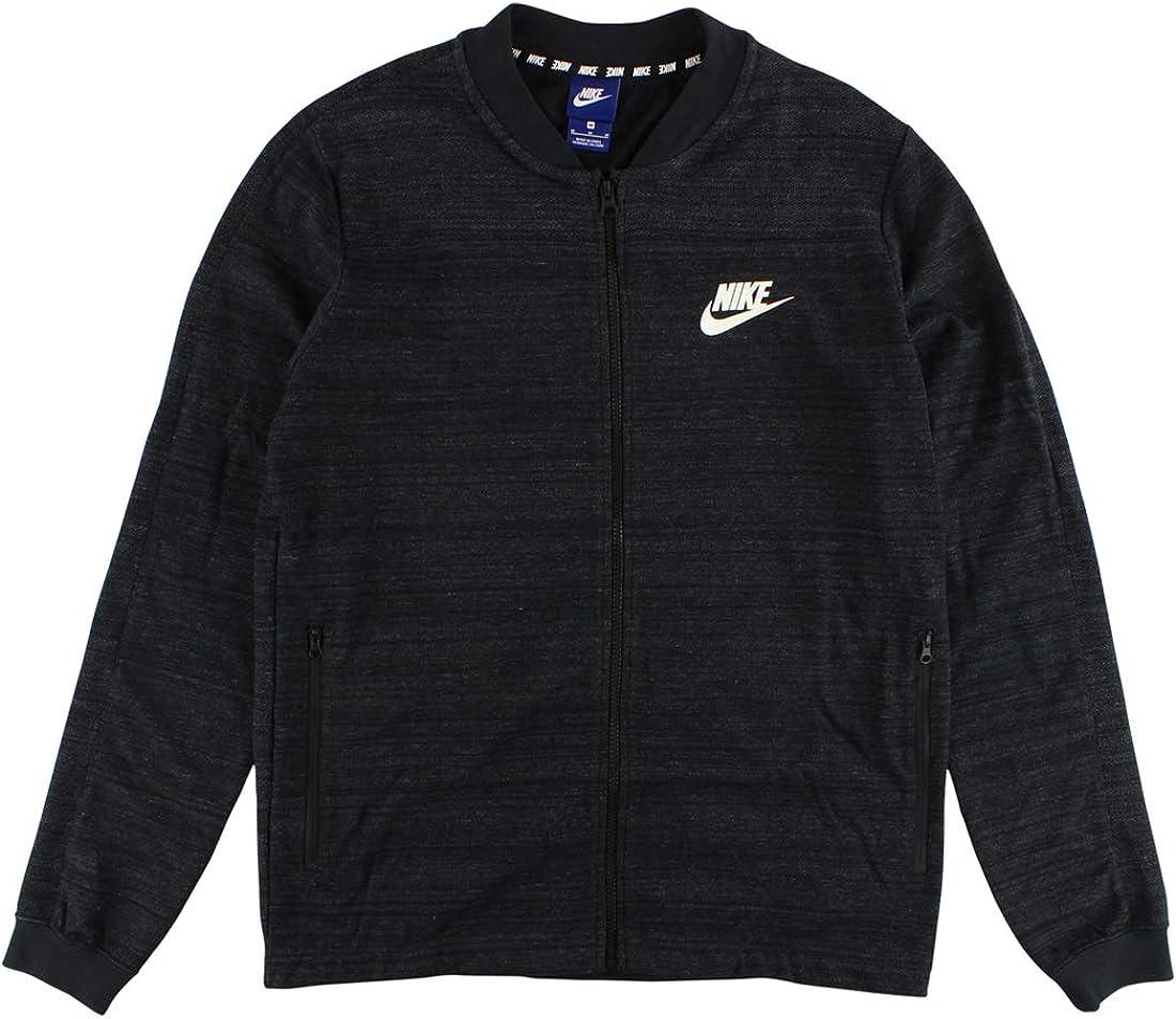 Nike AV15 Jacket White Grey Black Sz Medium 837008-100