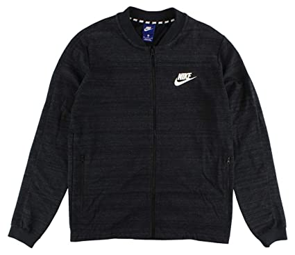 561827f791b Amazon.com: Nike Sportswear Advance 15 Fleece Knit Black Heather ...