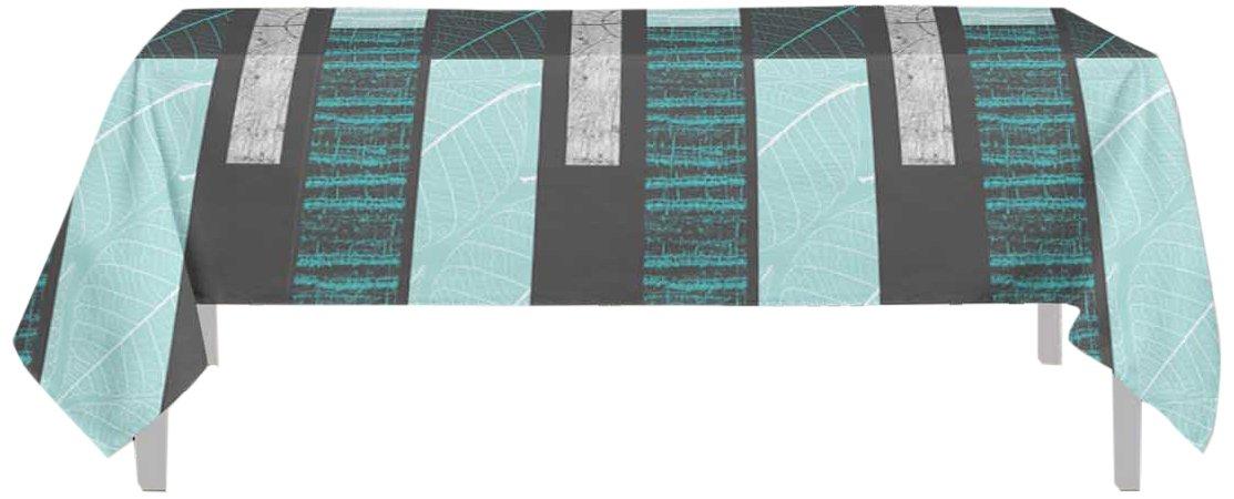 PVC Soleil docre Nappe Toile cir/ée Rectangle 160X240 cm ECORCE Aqua Bleu