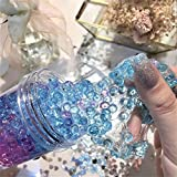 2018 Newest Ice Crystal Slime Mud with Fishbowl Beads, E-SCENERY 120ml Jumbo Fluffy Floam Slime Stress Relief Toy Scented Sludge Toy for Kids and Adults, Super Soft and Non-sticky