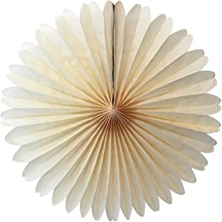 product image for 3-pack 13 Inch Tissue Paper Party Fans (Classic Ivory)