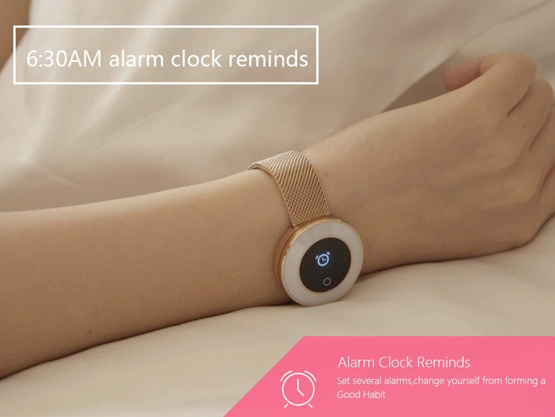 Love Life Reloj Inteligente De Las Mujeres, Seguimiento De La Actividad De Fitness Móvil para El Ritmo Cardíaco/Tensiómetro/Podómetro,Black: Amazon.es: ...