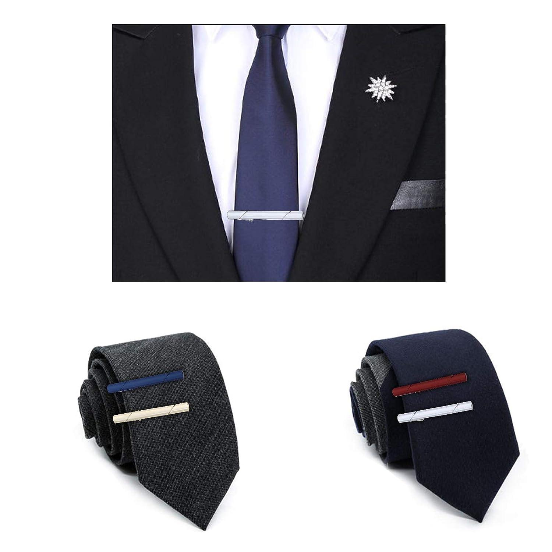 5 St/ücke Kupfer multi-color Krawattenklammern Kit M/änner Krawattenklammer