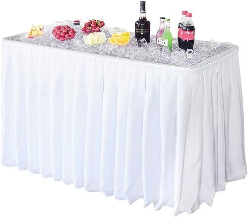 Modern Home 4 Portable Folding Party Ice Bin Table
