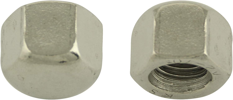 Sechskant | DIN 917 10 St/ück Edelstahl A2 V2A | Sechskant-Hutmutter Sechskantmutter niedr BiBa-Schrauben Hutmuttern niedrige Form M6