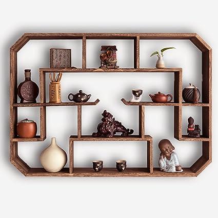 Amazon.com: Bookshelf LOFT Retro Solid Wood Wall Racks ...