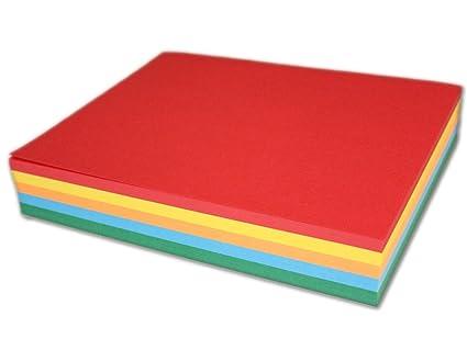 amazon com assorted colored 5 1 2 x 8 1 2 paper half letter