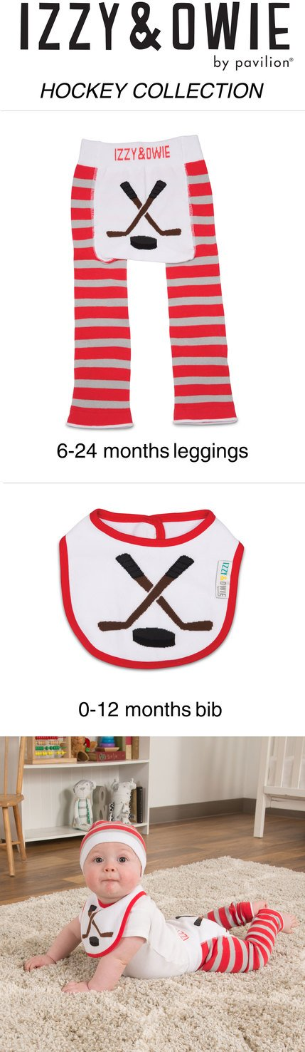 3ee3e41af Amazon.com: Izzy and Owie Hockey Stick Bib 0-24 Months, Red: Baby
