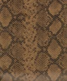 "54"" Wide Faux Snake Skin Leather Caramel Fabric By The yard"