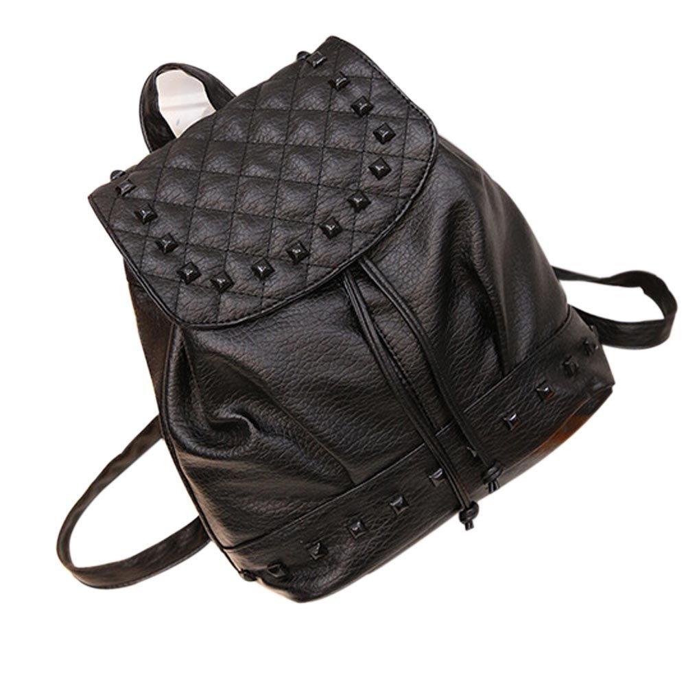 d6a7ee75c2f Amazon.com: Girl Leather School Bag Travel Backpack Satchel Women ...