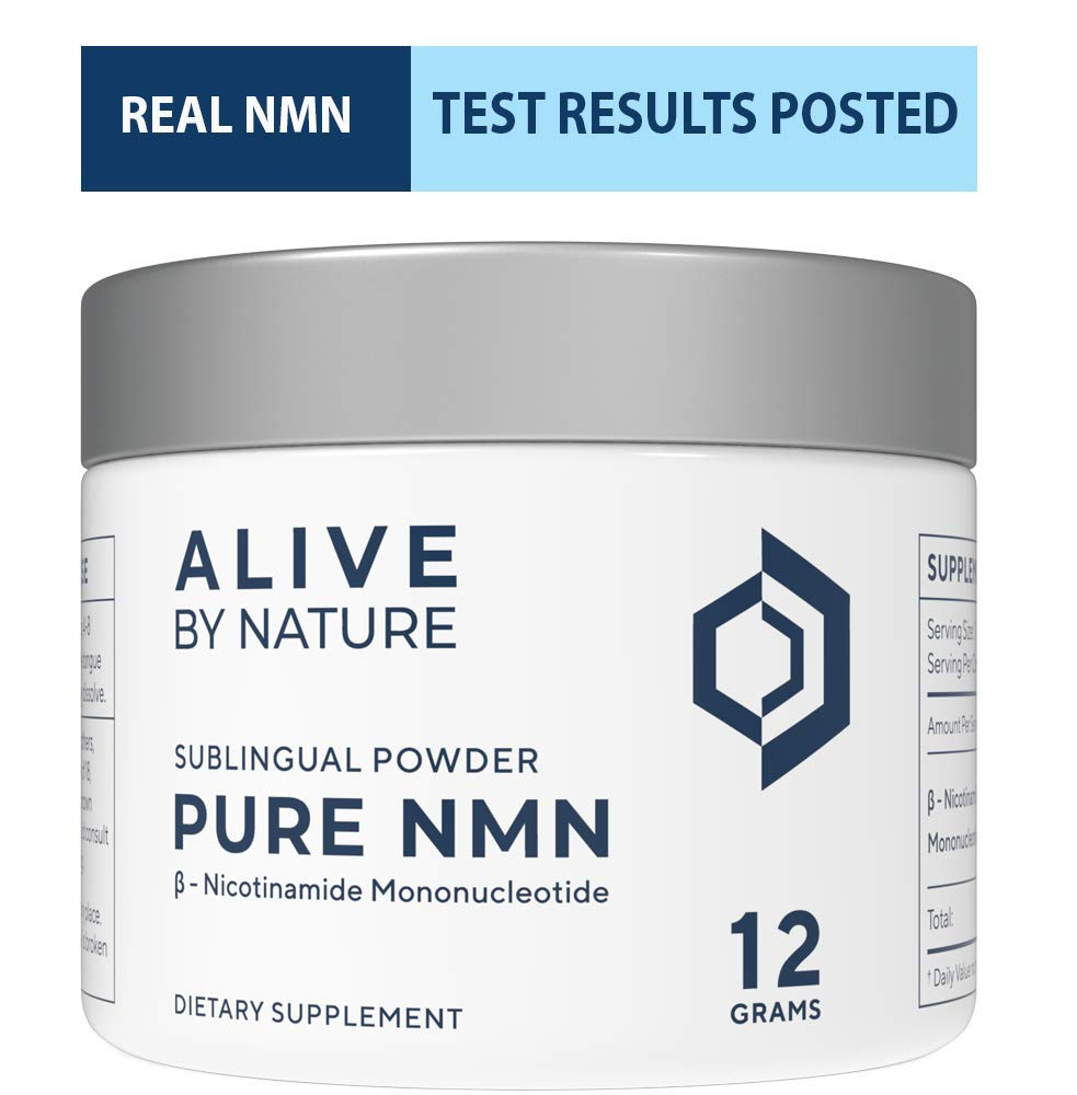NMN - Nicotinamide Mononucleotide (12 Grams) - Certified 99% Pure Powder by alivebynature (Image #1)