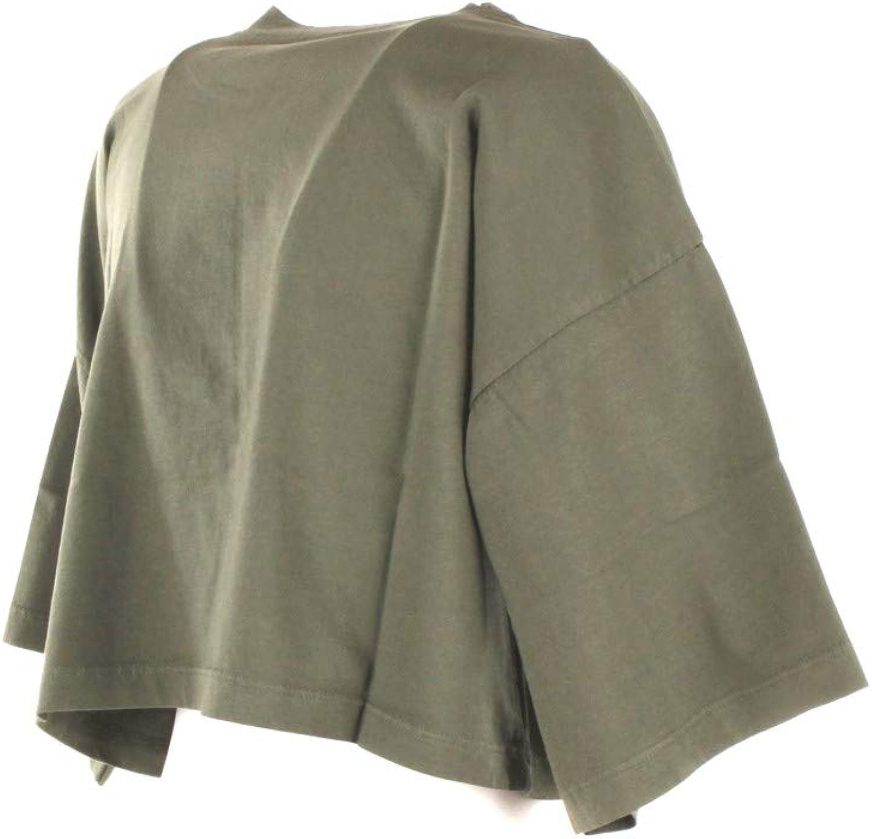 VICOLO T-Shirt Donna Verde Uc0177 Primavera Estate 2018