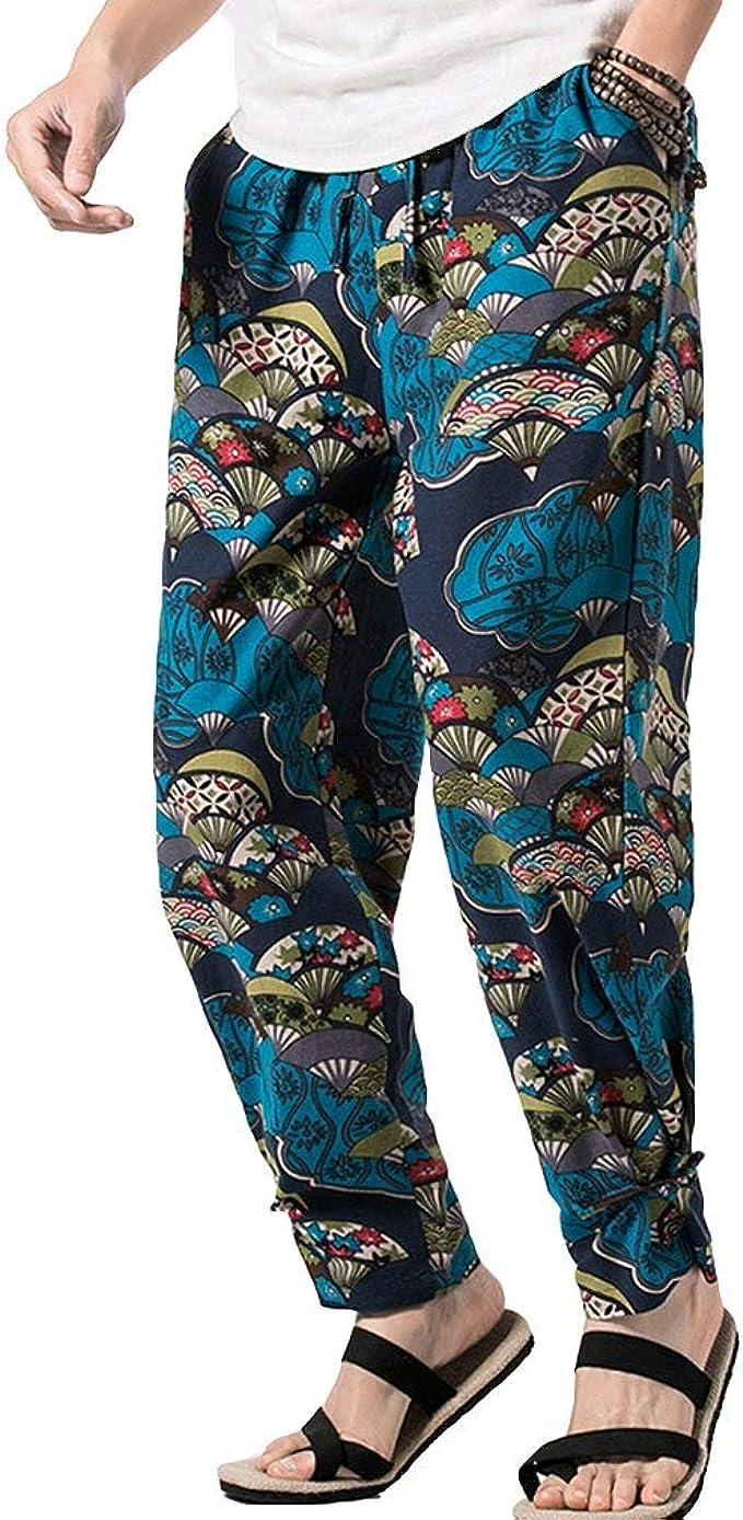 Dovrebbero seno Tagliato fuori  Pantaloni da Uomo Stampa Patchwork Pantaloni Libero Tempo Hippie da Pantaloni  Pantaloni Unico Stile Etnico Vintage Beach Pants Estate: Amazon.it:  Abbigliamento