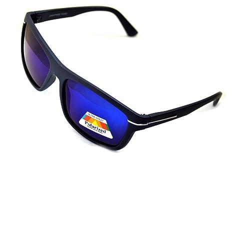 IRIS GLASS Gafas de sol POLARIZADAS Tipo OAKLEY con Cristales de Espejo de alta calidad, Armadura de...