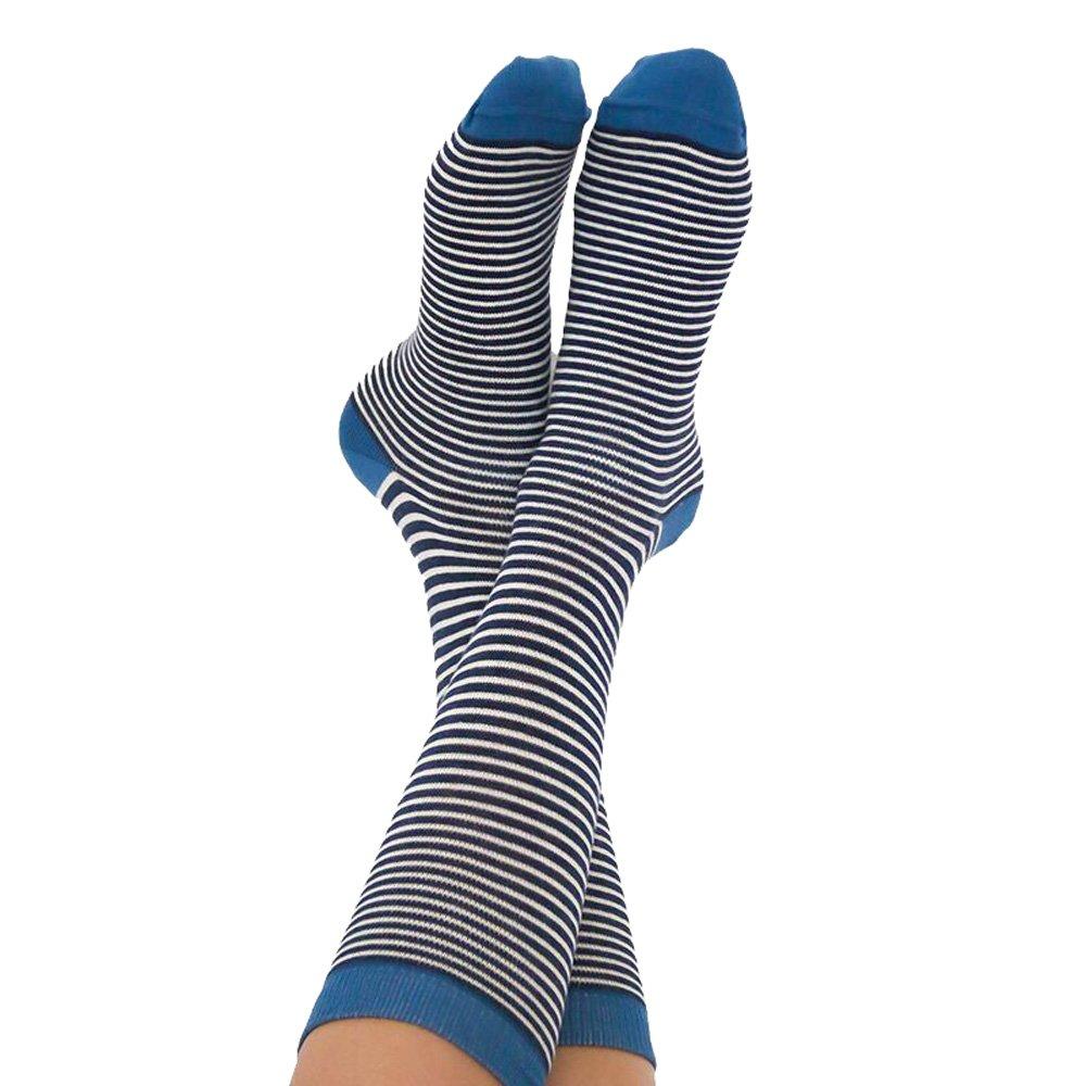 Albero Damen Socken Denimblau Bio-Baumwolle//Elasthan