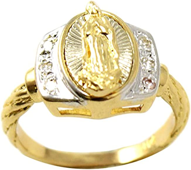 Virgin Mary Ring in 14k Gold