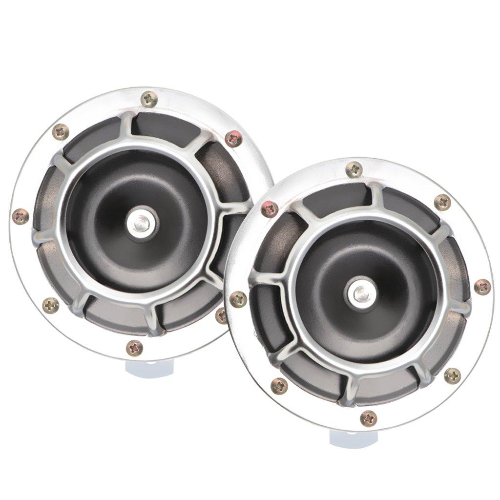 Sharplace 2 x Auto Becken Typ Lautsprecher Fortschrittliches Elektronisches Signalhorn - Schwarz