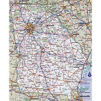 Map Of Georgia Highways.Amazon Com Home Comforts Large Detailed Roads And Highways Map Of