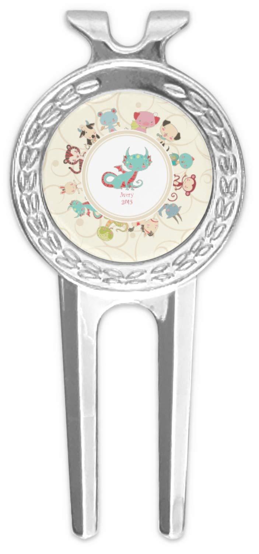 Chinese ZodiacゴルフDivot Tool &ボールマーカー( Personalized )   B076ZSWLSV