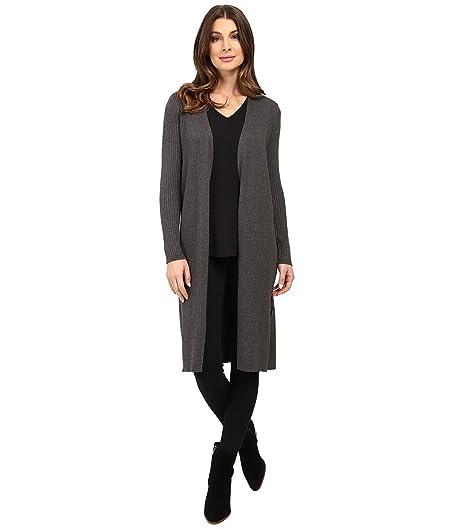 Vince Camuto Women's Long Sleeve Ribbed Maxi Cardigan Medium ...