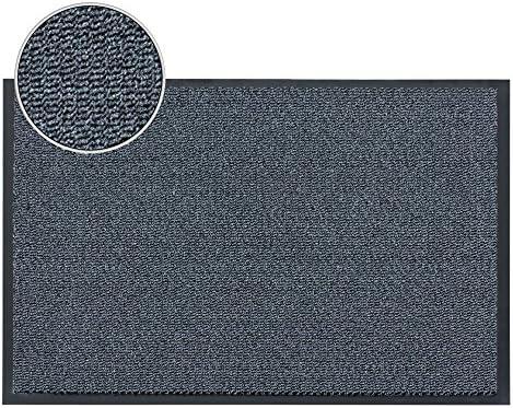 FunkyBuys/® Barrier Mat Large Brown //Black Door Mat Rubber Backed Medium Runner Barrier Mats Rug PVC Edged Heavy Duty Kitchen Mat 80 X 120 Cm