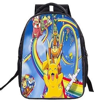 Unisex Pokemon Anime Cartoon School Bag para Reducir la Carga de la Mochila Infantil Mochila Escolar para niño y niña: Amazon.es: Equipaje