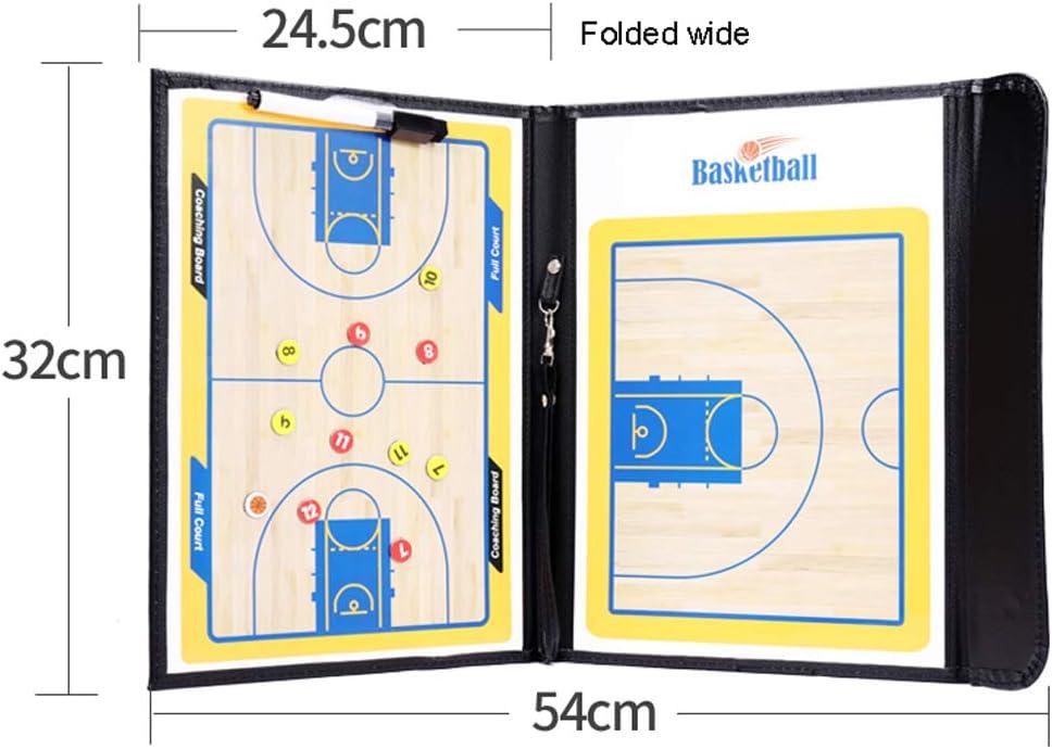 HUIJ Tableau Tactique Planche Tactique Coach-Board Panneau Tableau entra/îneur Magn/étique Dentr/âineur Basketball Accessoire Basket-Ball Support Pliable Portable for Basketball Game Training