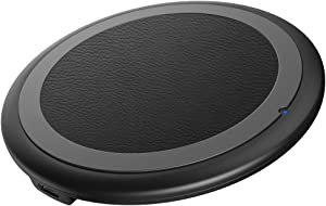Wireless Charger,(2 Pack) GIN FOXI 10W Max Qi-Certified Fast Wireless Charging Pad Compatible with iPhone 11/11 Pro/11 Pro Max/XS MAX/XR/XS/X/8, Samsung Galaxy Note 10/S10/S9/S8,(No AC Adapter)