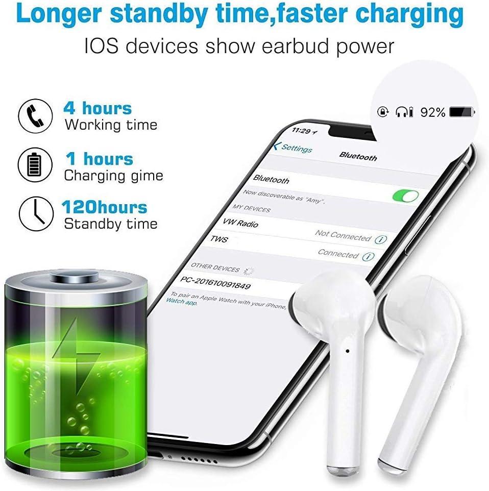 cengxiup Bluetooth 5.0 Rauschunterdr/ückung Drahtloses Auricolare Bluetooth Stereo 3D IPX7 Wasserdichtes Popup-Pairing Schnelles Aufladen f/ür Sportkopfh/örer von Apple//AirPods//AirPods Pro//Android//iPhone