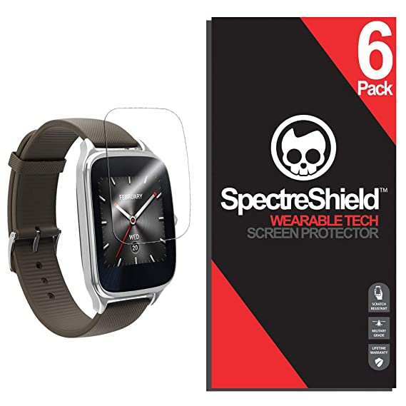 Spectre Shield (6 Pack) Screen Protector for Asus Zenwatch 2 (1.63 in) Accessory Asus Zenwatch 2 Case Friendly Full Coverage Clear Film