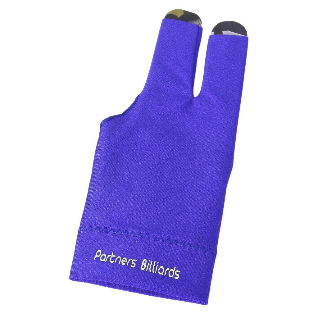 SODIAL(R) Professional Billiard Left Hand Three Finger Open Fingertip Glove (Blue)
