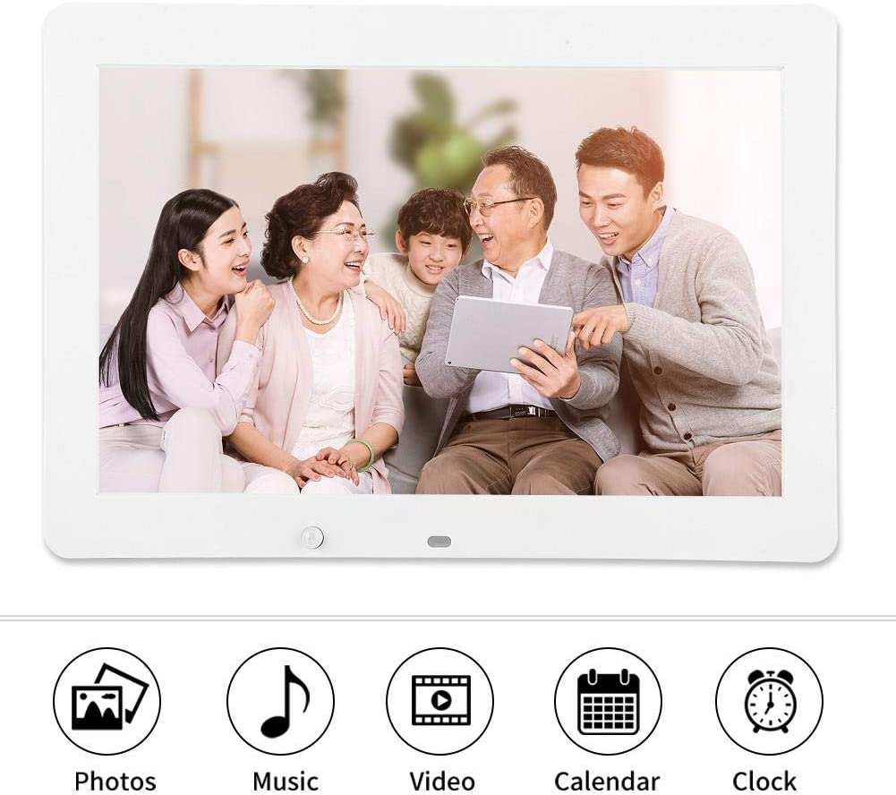 Auto Rotate Time Remote Control Black 14 inch Digital Photo Frame with IPS Screen 19201080 Digital Picture Frame 32G SD Card 1080P Video Photo Music Calendar White//Black E-Book.