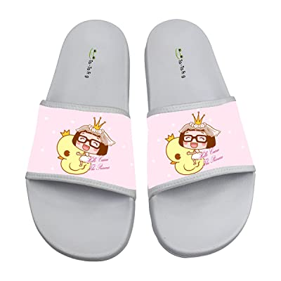 8a00addd1e43 Cool Girl Rubber Duck Soft Slide Sandal Slippers Flats Flip Flops Open toed  Summer Beach Shoes