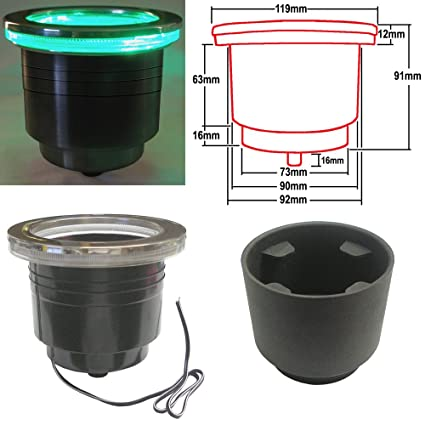 Amazon.com: LED portavasos con arnés, color verde: Sports ...