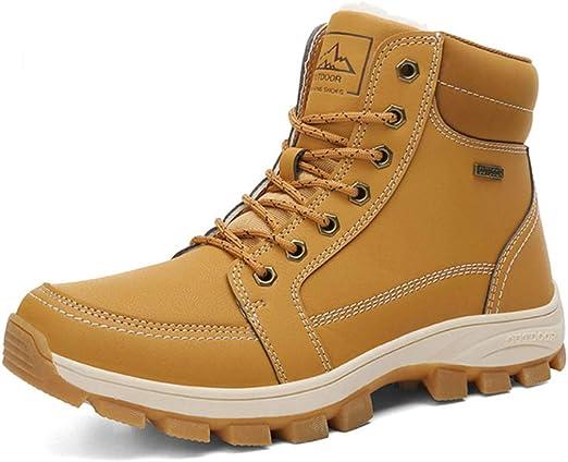 AZLLY Zapatos de Cuero Resistente de montaña Ligeros para