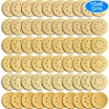 AUSTOR 60 Pieces Gold Sanding Discs, 5 Inch 8 Holes Dustless Hook and Loop 60/ 80/ 120/ 150/ 220/ 400 Grit Sandpaper Assortment for Random Orbital Sander