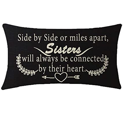 Amazoncom Niditw Great Gift For Sister Quote Side By Side Or Miles