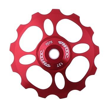 Rueda de desviador para bicicleta, 11 rodamientos de cerámica CNC de aleación