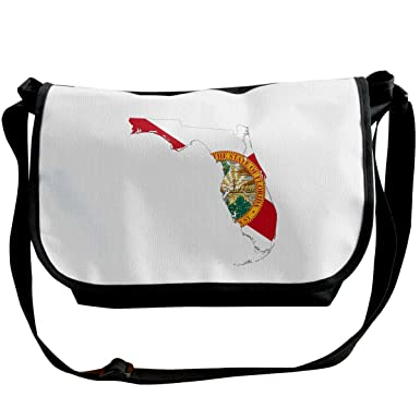 4c4e443384 Florida State Map With Flag Unisex Cross Body Bags Convenient Handbag