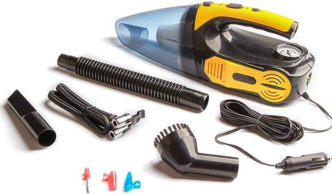 TYQIAO De Mano del Coche del Aspirador de Alta Potencia - con Cable portátil de Coche Auto con la luz del LED, Mini aspiradora de Mano para la Limpieza del Coche rápido,Amarillo: