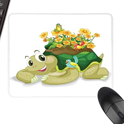 Amazon com : Reptile Gaming Mousepad Funny Floral Turtle