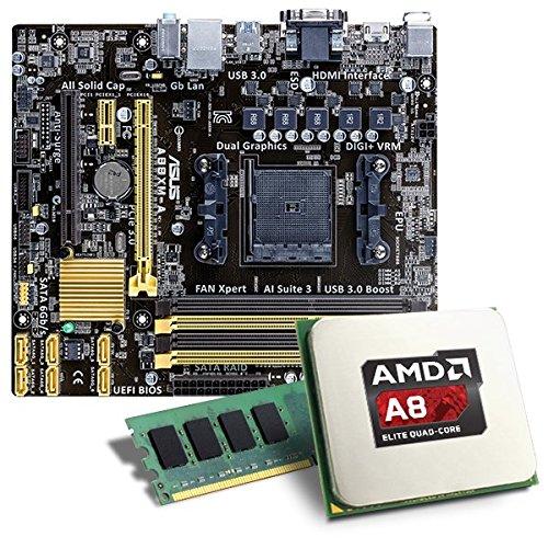 AMD A8-6600K / A88XM-A Mainboard Bundle / 8192 MB - CSL PC Aufrüstkit - AMD A8-6600K APU 4x 3900 MHz, 8192MB DDR3, Radeon HD 8570D, GigLAN, 7.1 Sound, USB 3.0 - Aufrüstset - PC Tuning Kit